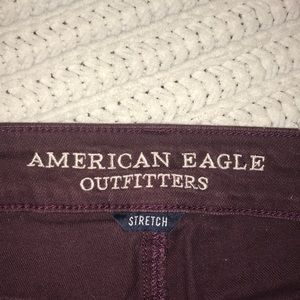 American Eagle Outfitters Shorts - Maroon distressed American Eagle shorts